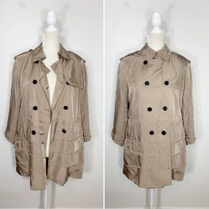 CLUB MONACO double breasted trench coat